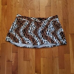 VENUS Leopard Print Swim Skirt